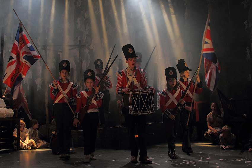 The Drummer Boy of Waterloo. Photo: David Hermon