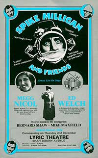 Megg Nicol and Spike Milligan, London